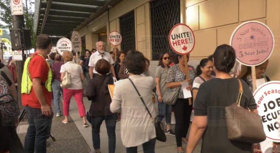 温市四家豪华酒店的员工已投票支持罢工。CTV