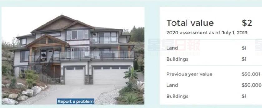 去年估值100万的房屋,现在只值2元。CBC