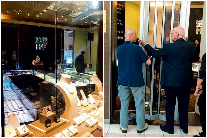 ■警員到場立即封鎖珠寶店調查。讀者提供