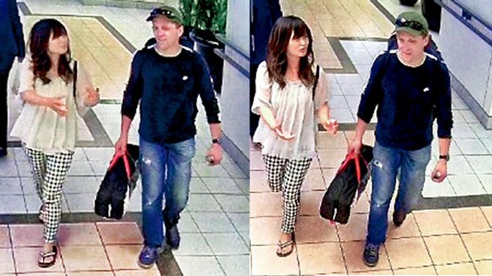 ■保安监控录像显示,古川夏好失踪前曾与施奈德现身温市中心一购物商场。警方提供