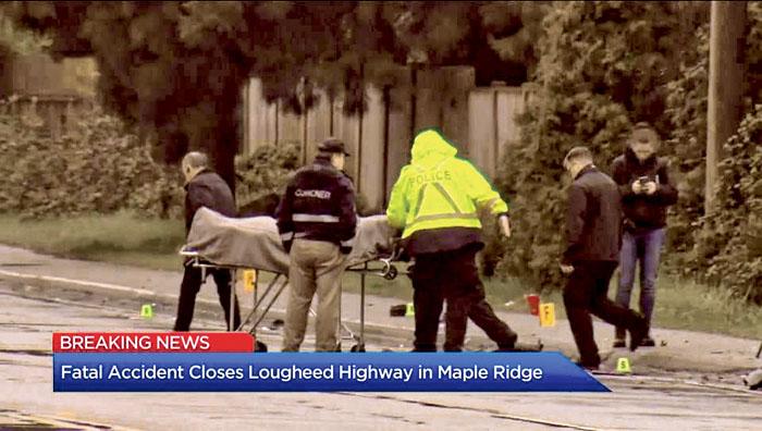 ■枫树岭周二早上发生两车相撞意外,酿成1死2伤,其中一个伤者命危。Global News