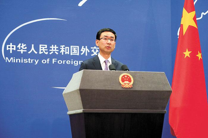 中国外交部发言人耿爽表示,中方从来不会屈从于任何外部压力。中央社