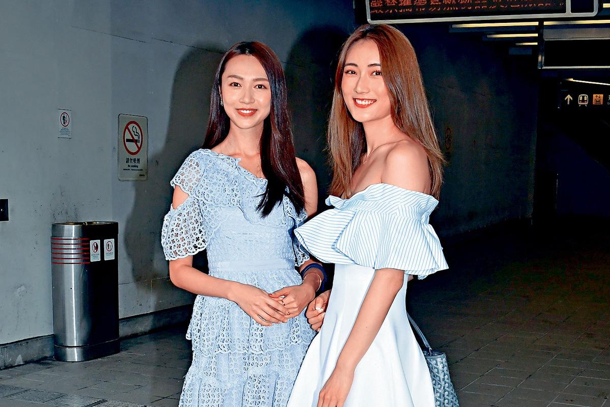 (左) 貌似郭可盈的Carmaney曾参选过2018国际小姐。 (右) 蔡嘉欣是KOL,高挑清秀。