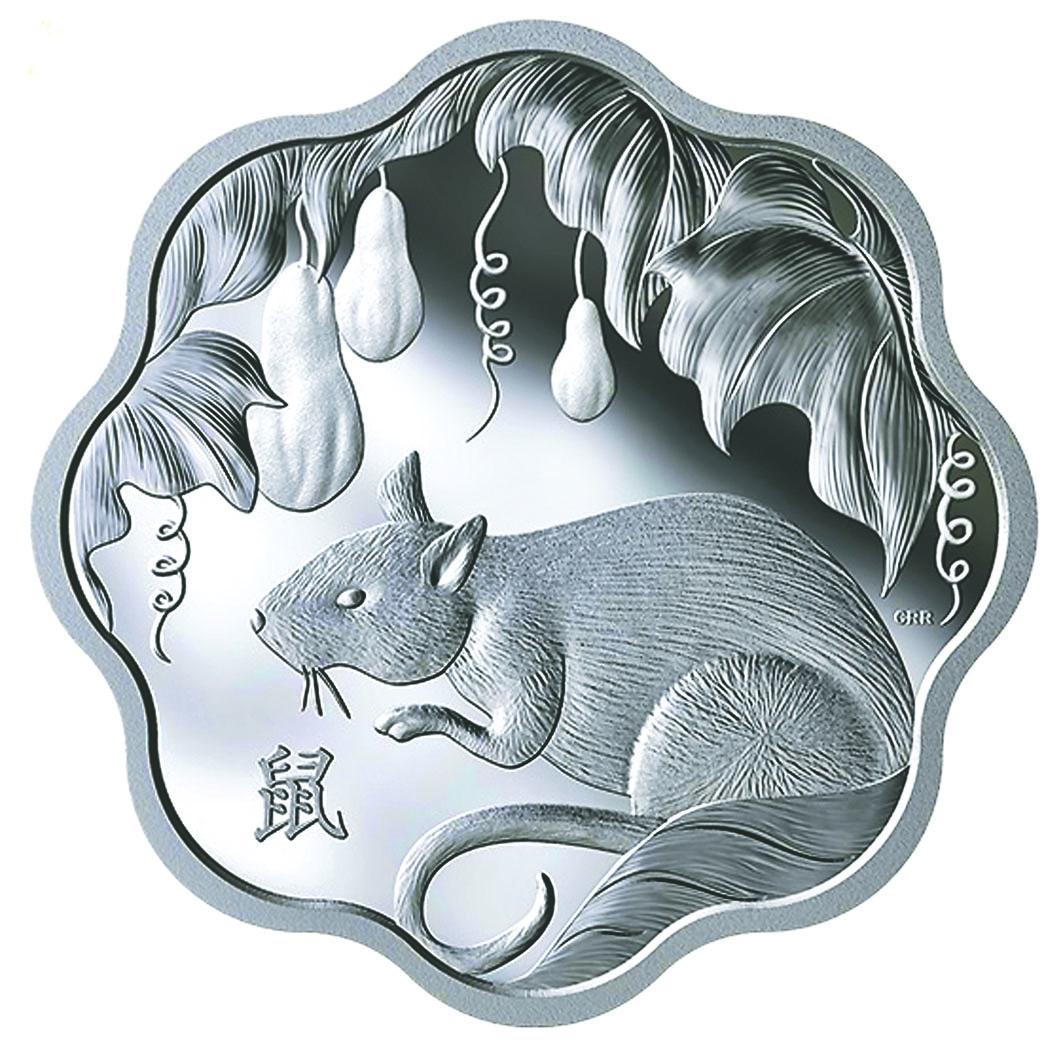 蓮花形系列純銀幣。鑄幣廠網站