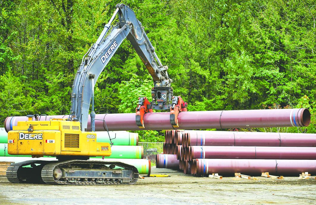 图为卑诗省横山输油管一个工地。加通社资料图片