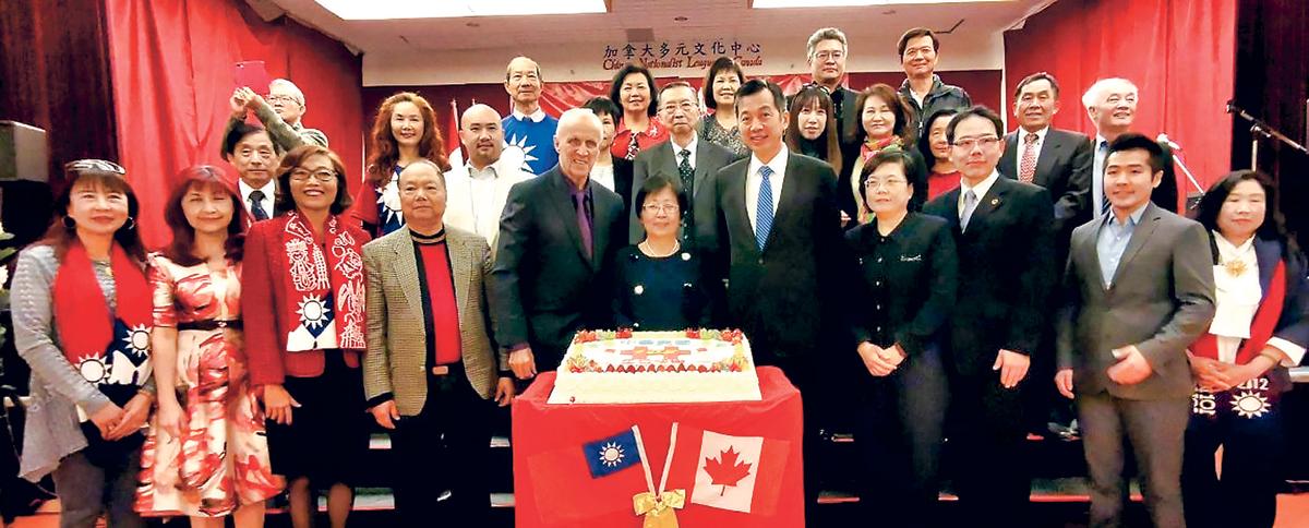 ■加拿大多元文化中心,日前舉行雙十國慶升旗禮。受訪者提供