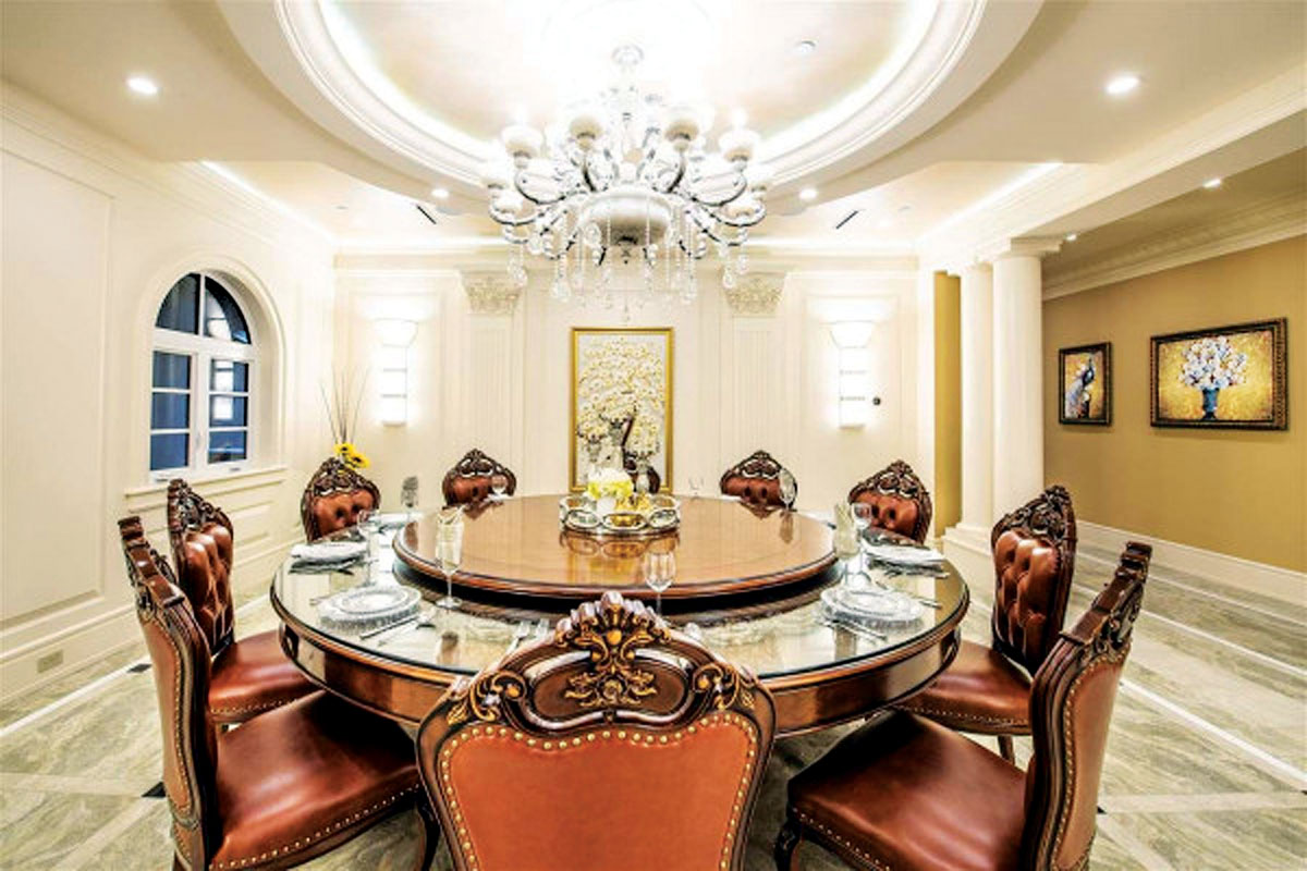 ■古典風格的飯廳。