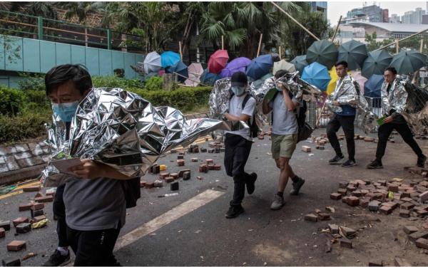 香港政局持续动乱。 Getty Images。